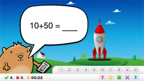Use Rocket Maths to help your students practise their tens facts.