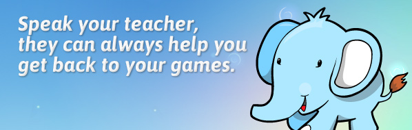 Speak to your teacher, they can always help you get back to your games.