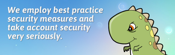 We employ best-practice security measures and take account security very seriously.